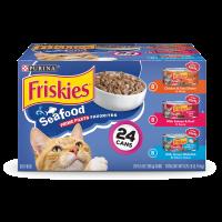 Friskies Prime Filets Seafood Favorites Adult Wet Cat Food Variety Pack - (24) 5.5 oz. Cans
