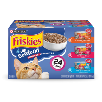Friskies Prime Filets Seafood Favorites Adult Wet Cat Food Variety Pack - (24) 5.5 oz. Cans