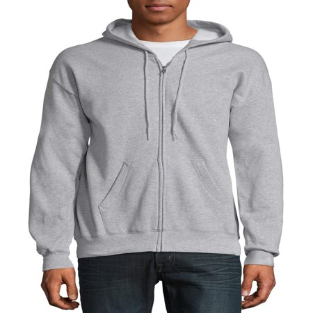 Hanes Big & Tall Men's EcoSmart Fleece Zip Pullover Hoodie with Front (Exterior Front Zip Pockets)