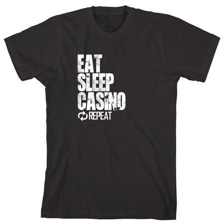 Eat Sleep Casino Repeat Men's Shirt - ID: 855