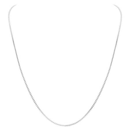 Gem Avenue Italian 925 Sterling Silver 1mm Sturdy Box Link Chain - 925 Sterling Silver 17 Chain