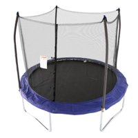 Skywalker Trampolines 10-Foot Trampoline, with Enclosure and Wind Stakes, Blue