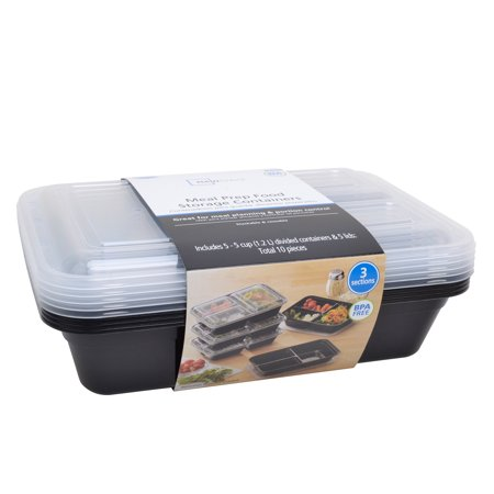 Mainstays 10pc 3 Compartment Meal (3 Piece Lunch)