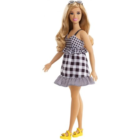 Barbie Fashionistas Doll, Curvy Body Type Wearing Black & White Dress](Doll Dress Adult)
