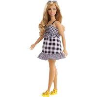 Barbie Fashionistas Doll, Curvy Body Type Wearing Black & White Dress