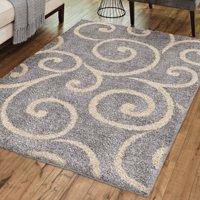 Better Homes and Gardens Swirls Soft Shag Area Rug or Runner