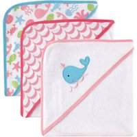 Luvable Friends Baby Hooded Towel, Foxy, 3 Pack