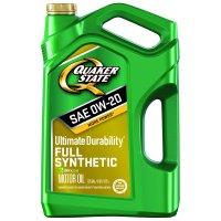 Quaker State Ultimate Durability 0W-20 Dexos Full Synthetic Motor Oil, 5 qt