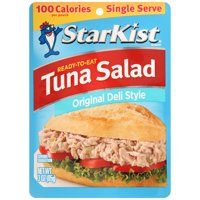 (4 Pack) StarKist Ready-to-Eat Tuna Salad, Original Deli Style, 3 Ounce Pouch