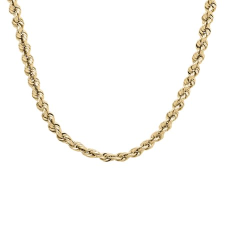 10K Yellow Gold 3.40-3.45mm Rope Chain, 22