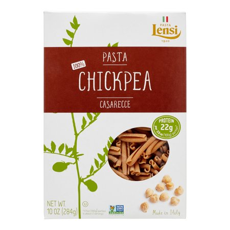 - (2 pack) Lensi 100% Chickpea Casarecce Pasta, 10 oz