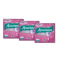 (3 Pack) Assurance Incontinence Underwear for Women, Maximum, 2XL, 14 Ct