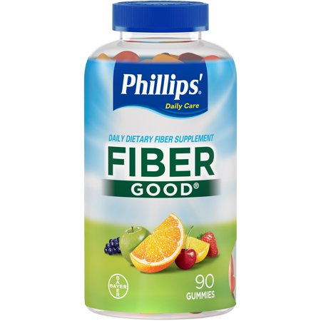 Raw Fiber (Phillips' Fiber Good Daily Supplement Gummies, 90 Count)
