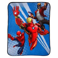 "Marvel's Avengers 46"" x 60"" Plush Throw, Kid's Bedding"