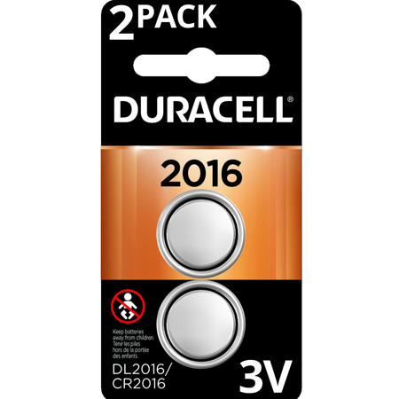 Duracell 3V Lithium Coin Battery 2016 2 Pack Long-Lasting Batteries (Battery 1632 Replacement)