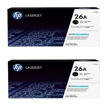 HP 26A (CF226A) Black Original LaserJet Toner Cartridge 2- Pack