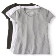 Juniors' Everyday Short Sleeve T-Shirt 3-Pack