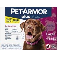 PetArmor Plus Flea & Tick Prevention for Large Dogs (45-88 lbs)
