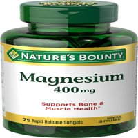 Nature's Bounty Magnesium Softgels, 400mg, 75 Ct