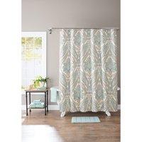 Better Homes & Gardens Aqua Paisley 13-Piece Shower Curtain Set