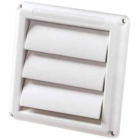 Deflecto Hs4w/18 Supurr-vent Replacement Vent Hood (Aluminum Dryer Vent Hood)