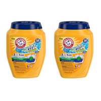(2 pack) Arm & Hammer Plus OxiClean 3-IN-1 Power Paks - Single Use Laundry Detergent, 58 Count