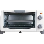 Mainstays 4-Slice White Toaster Oven with Dishwasher-Safe Rack & Pan