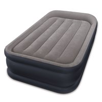 Intex Twin Sized Deluxe Pillow Rest Airbed with Fiber-Tech BIP, Gray | 64131E
