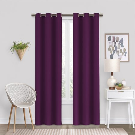 Kansas Printed Curtain Panels (Eclipse Dayton Blackout Energy-Efficient Curtain Panel )