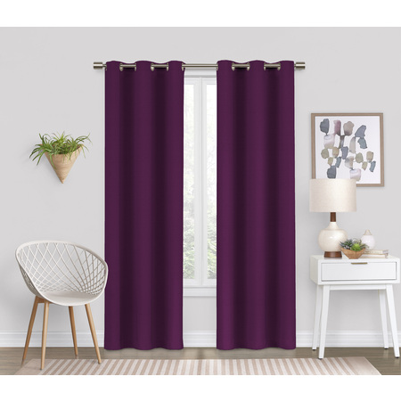 Pink Tab Top Curtains - Eclipse Dayton Blackout Energy-Efficient Curtain Panel