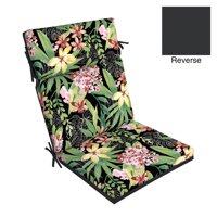 Better Homes & Gardens Black Tropical 44 x 21 in. Outdoor Dining Chair Cushion with EnviroGuard
