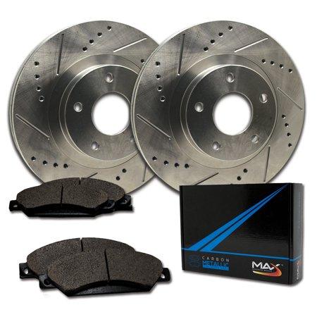 Max Brakes Rear Performance Brake Kit [ Premium Slotted Drilled Rotors + Metallic Pads ] TA168532 | Fits: 2011 11 Saab 9-5 w/12.4'' Vented Rear Rotors - image 8 de 8