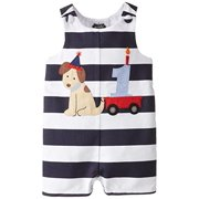 d0650f382596 Mud Pie Baby Boys First Birthday Puppy Shortall Multi-Colored