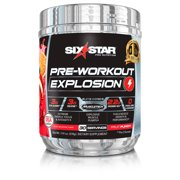Six Star Pro Nutrition Pre Workout Explosion Powder, Fruit Punch, 30 Servings