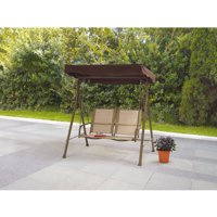 Mainstays Sand Dune 2-Seat Sling Canopy Porch Swing