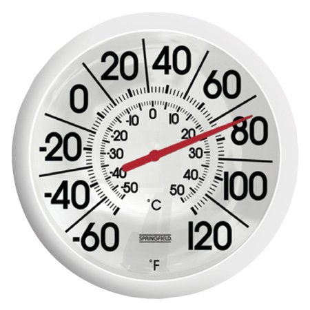 Springfield Big and Bold - Outdoor Cast Aluminum Thermometer