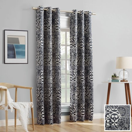 Sun Zero 2-pack Cora Medallion Jacquard Blackout Grommet Curtain Panel Pair