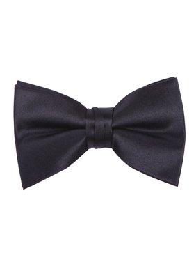 Men's Bow Tie Premium Pre-Tied Bowtie Adjustable Fashion Tuxedo Accessory (Black)