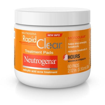 Neutrogena Rapid Clear Maximum Strength Acne Treatment Pads, 60 ct