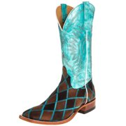 ab405348a24 Anderson Bean Mens Insane in the Membrane Patchwork Cowboy Boots