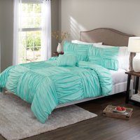 Better Homes and Gardens Basketweave Ruched Bedding Duvet Set, Full/Queen