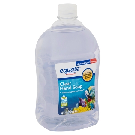 (2 pack) Equate Clear Hand Soap Refill, 56 Oz (Soap Original Refill)