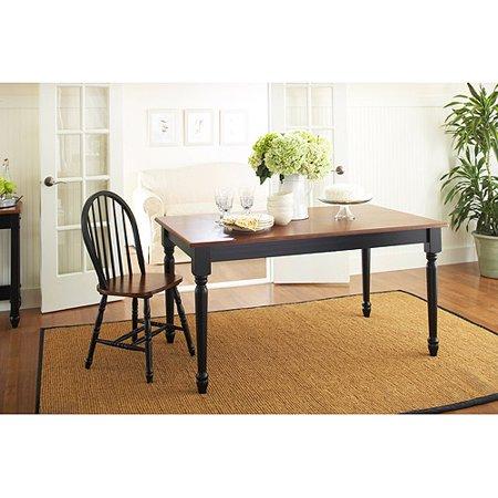 Better Homes And Gardens Autumn Lane Farmhouse Dining Table Black Oak