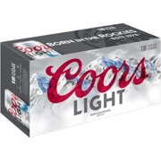 Coors Light Vented Wide Mouth Frost Brew Liner Beer, 18 pack, 12 fl oz