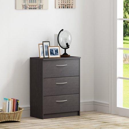 Homestar Finch 3 Drawer Dresser, Multiple Finishes