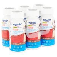 Equate Nutritional Shake Plus, Chocolate, 8 fl oz, 6 Count