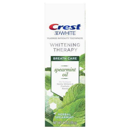 Whitening Spearmint - Crest 3D White Whitening Therapy Toothpaste, Spearmint Oil, 4.1 oz