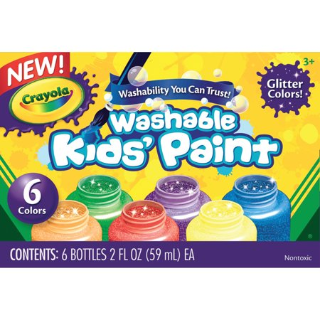Crayola Washable Kids' Paint Set 6-Color Glitter Set](Kids Face Paints For Halloween)