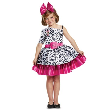 Classic L.O.L Diva Girls Halloween Costume - Plus Size Naughty School Girl Costume