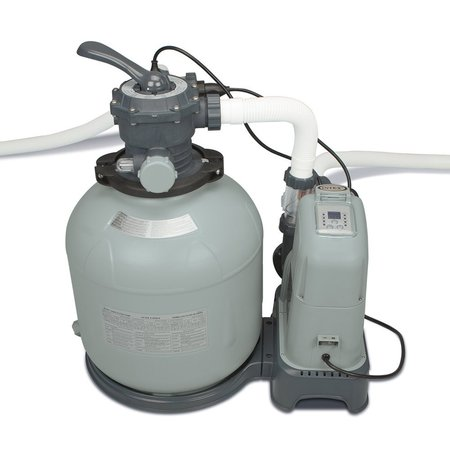 Intex 2650 GPH Saltwater System & Sand Filter Pump Swimming Pool Set | 28679EG Duo Clear Salt System